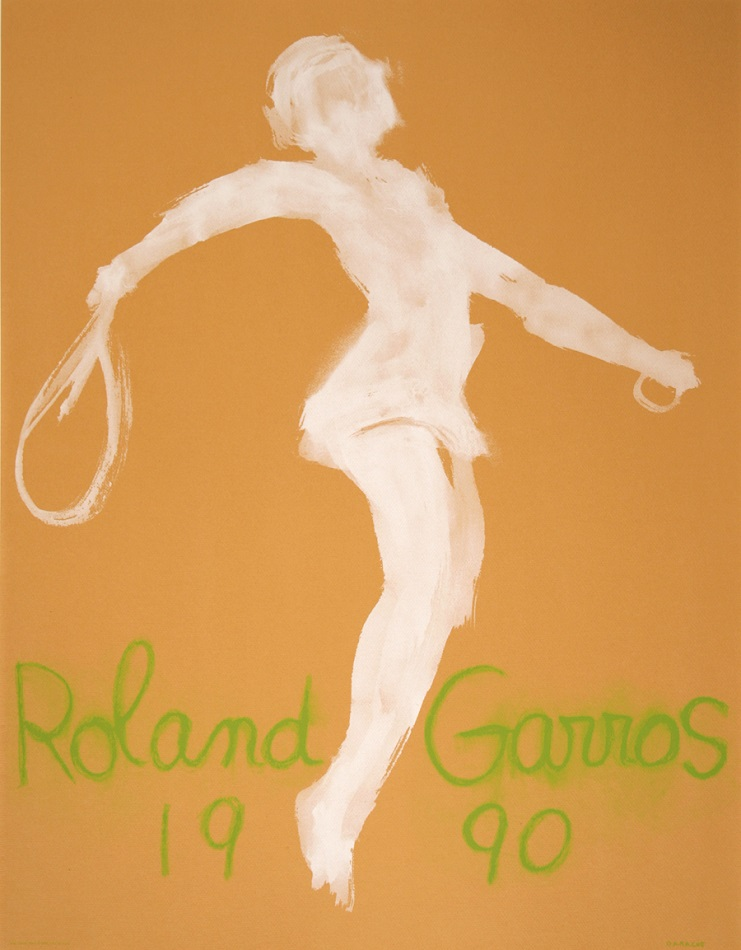 ROLAND GARROS ORIGINAL VINTAGE TENNIS  POSTER 1990 BY GARACHE