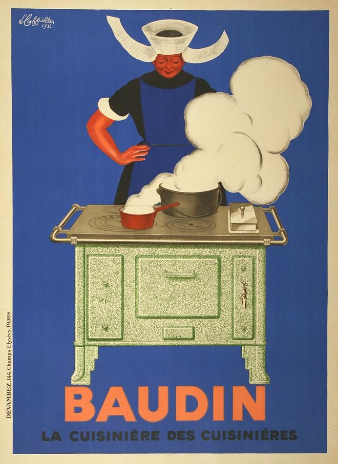 BAUDIN ORIGINAL VINTAGE POSTER BY LEONETTO CAPPIELLO 1933