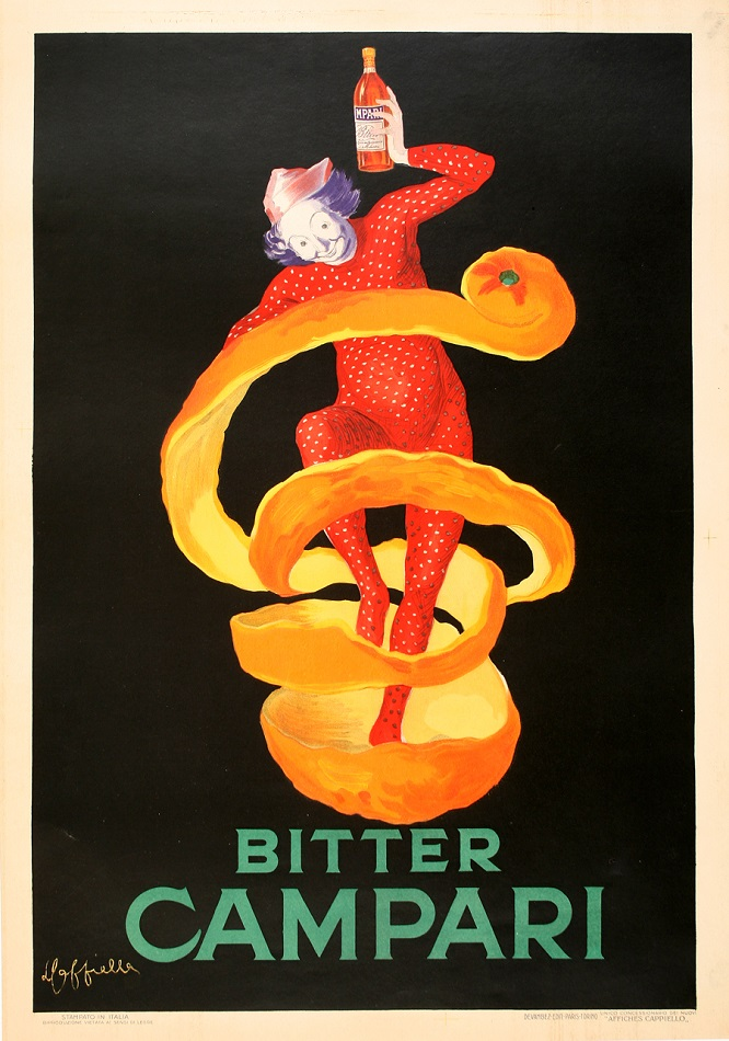 BITTER CAMPARI ORIGINAL VINTAGE POSTER BY LEONETTO CAPPIELLO 1921