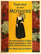 ORIGINAL VINTAGE 1927 MATHER WORK INCENTIVE POSTER -DEDICATED TO OUR MOTHERS