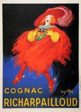 ORIGINAL VINTAGE LIQUOR POSTER COGNAC RICHARPAILLOUD BY JEAN D'YLEN 1930