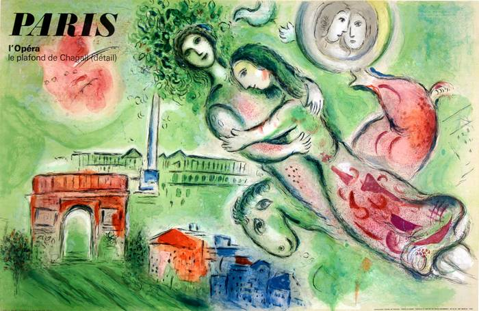 ORIGINAL PARIS OPERA POSTER BY MARC CHAGALL 1965