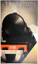 ORIGINAL RARE EXACTITUDE TRAIN VINTAGE POSTER BY FIX-MASSEAU 1932