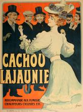 ORIGINAL VINTAGE POSTER CACHOU LAJAUNIE BY TAMAGNO 1905