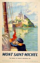 LE MONT SAINT MICHEL ORIGINAL VINTAGE TRAVEL POSTER BY STARR 1947 SNCF
