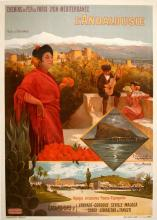 ORIGINAL VINTAGE TRAVEL POSTER L'ANDALOUSIE ANDALUSIA BY HUGO D'ALESI 1905