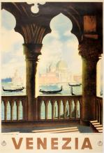 ORIGINAL VINTAGE VENEZIA VENICE TRAVEL POSTER BY LUIGI SALAMONE 1938