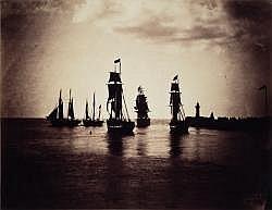 Gustave LE GRAY (1820-1884) Bateaux quittant le