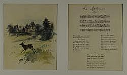 Karl REILLE (Paris, 1886 - Cérelle, 1975) et Pierre de la VERTEVILLE (Copenhague, 1874 - Tours, 1935).