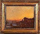 Lidio Ajmone 1884 - 1945 Paesaggio al tramonto
