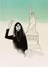 John Lennon, by Al Hirschfeld