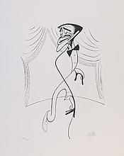 Al Hirschfeld, Sammy Davis Jr B&W