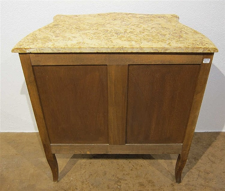 Petite commode style r gence en placage de bois de rose ou - Commode bois de rose ...