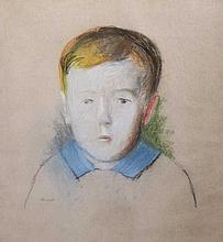 Georg MERKEL (1881-1976),  Portrait d'enfant,
