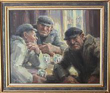 """Jean-Louis LE TOULLEC (1908-1999) """"Trois marins a"""