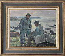 """Jean-Louis LE TOULLEC (1908-1999) """"Deux marins pr"""