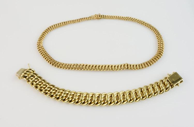 Ladies' collier and bracelet