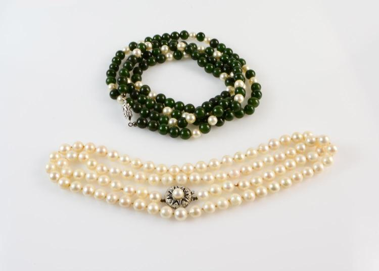 Two pearl chains