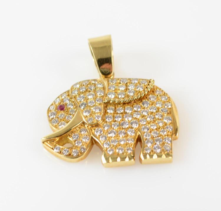 Pendant in elephant shape