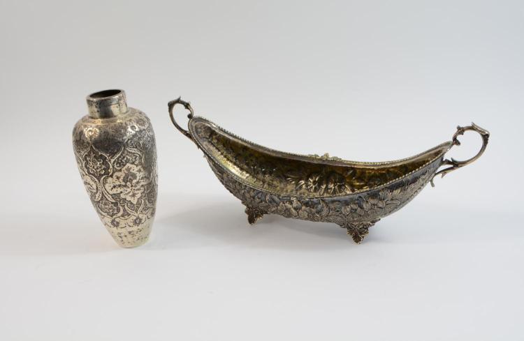 Pair of silver parts Vase