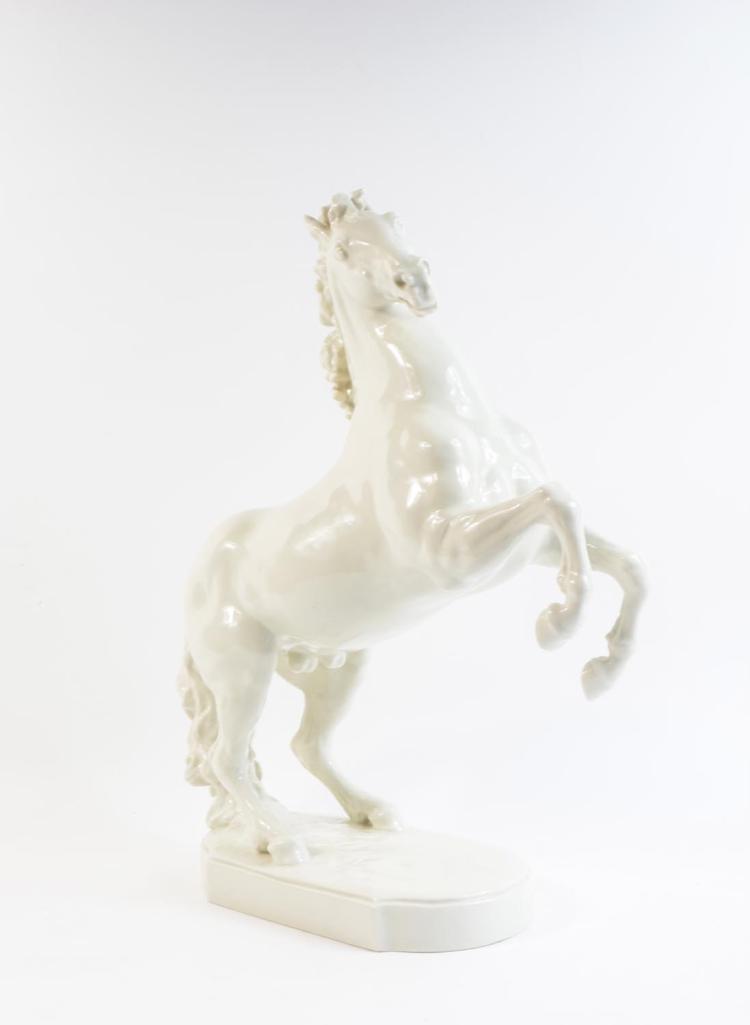 Big rearing horse