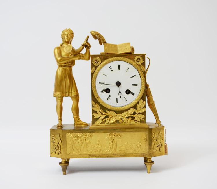 Empire pendulum Allegory of music