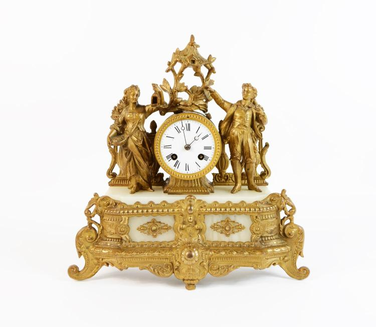 Mantelpiece clock