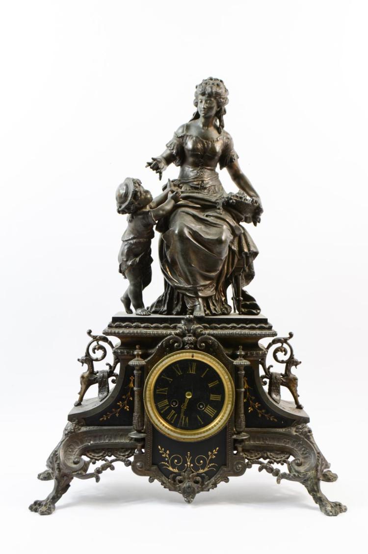 Historicism console clock