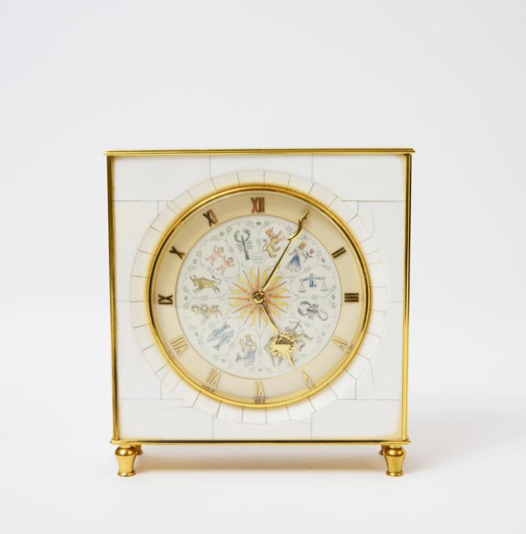 Table clock with zodiac signs