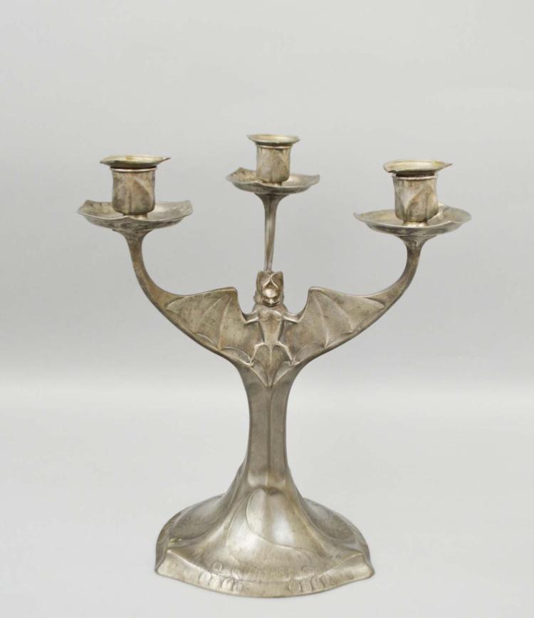 Three-armed bat chandelier