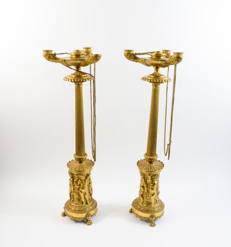 Couple of Empire candlesticks