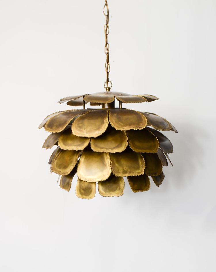 Pendulum lamp Brutalist Artichoke