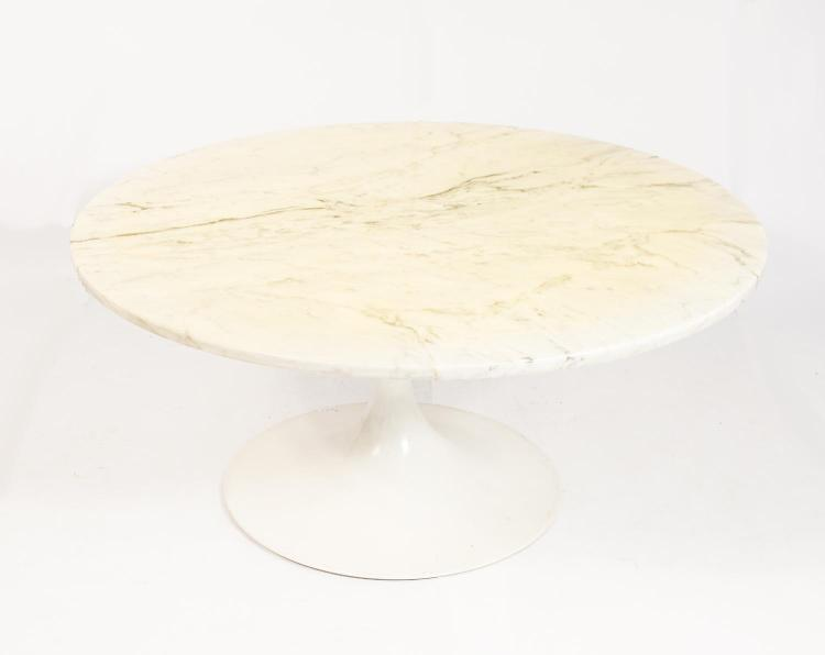Coffee table with marble plate