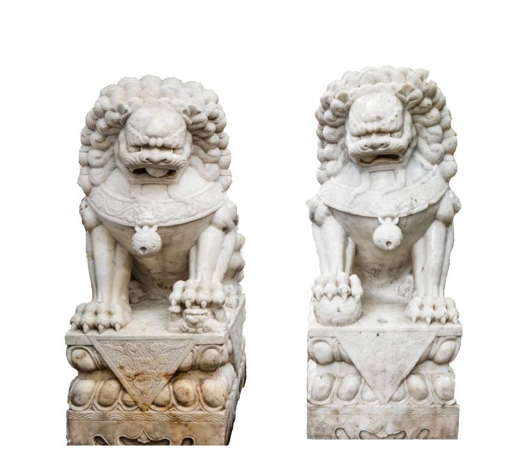 Lions of marble