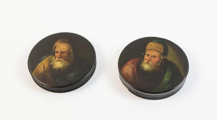 Pair of round cans