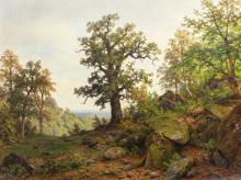 Waldlandschaft, Carl von der Hellen (1843 Bremen -1902 Düsseldorf) W
