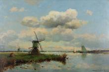 Landschaft mit Windmühlen, Willem Johannes Weissenbruch (1864 Den Haag -194