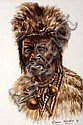 Maseko, Misraim (SA 1927 - 1994) Zulu man with fur, Mizraim Maseko, Click for value