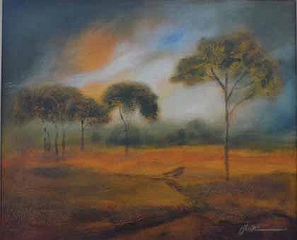 Munro, Paul (SA 1959 - ) Landscape with Trees Oil