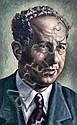 Koenig, Dezso (SA 1902 - 1972) Portrait study Oil