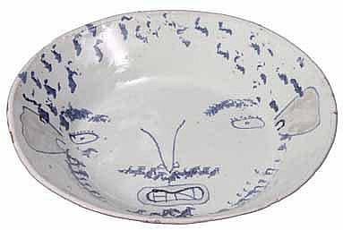 Nel, Hylton (SA 1941 - ) Portrait Ceramic plate,