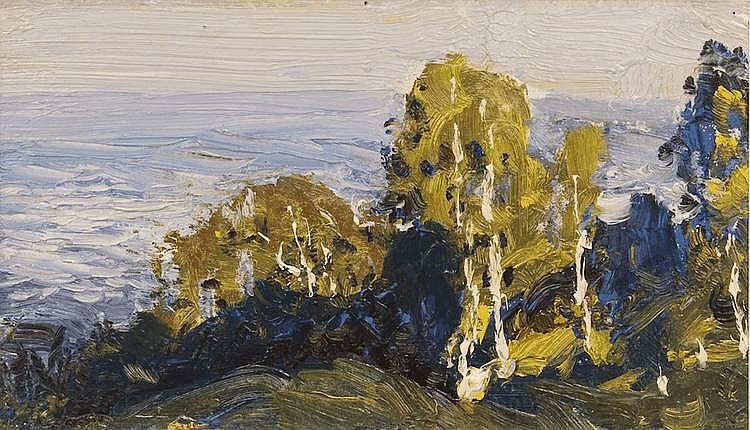 Dubovskoy Nikolay Nikanorovitch (1859-1918) Seashore. Horsta
