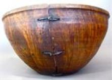 Large Deep Early 19th C. Burl Bowl