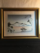 Framed Japanese Woodblock Paint
