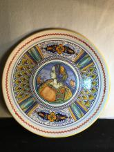 Big Italy Hand Painted Plate