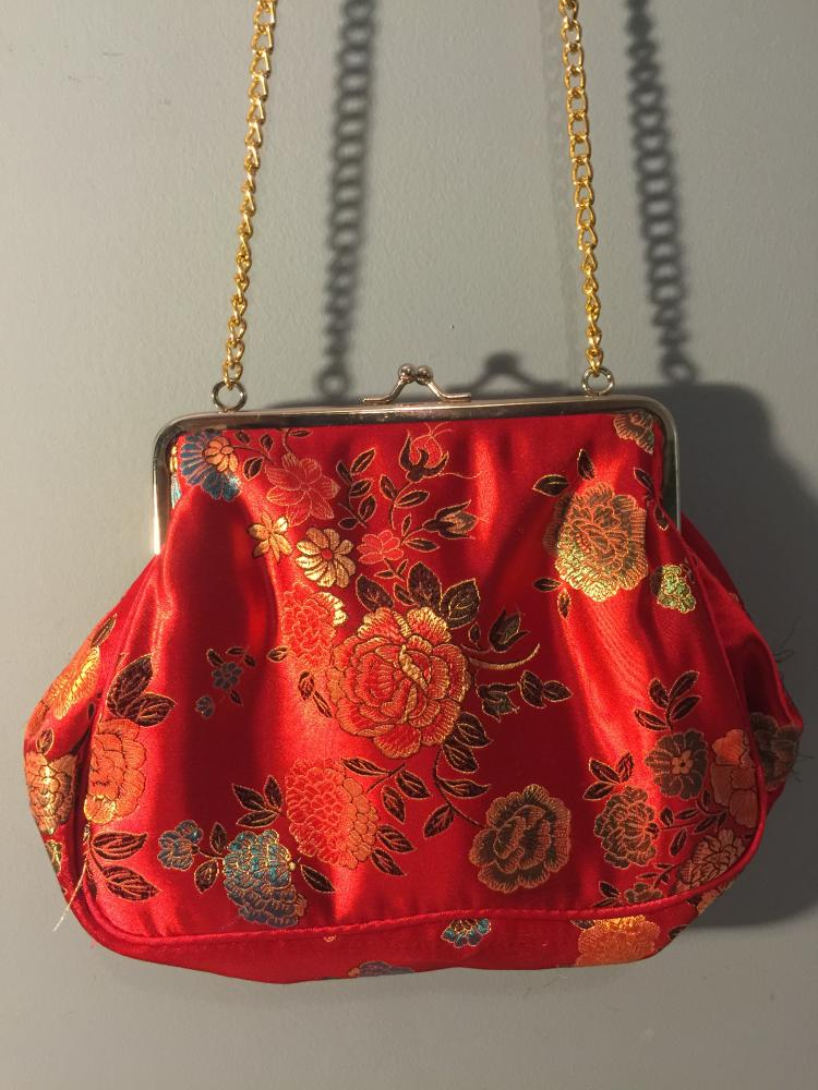 Chinese Embroidery Hand Bag with Chain
