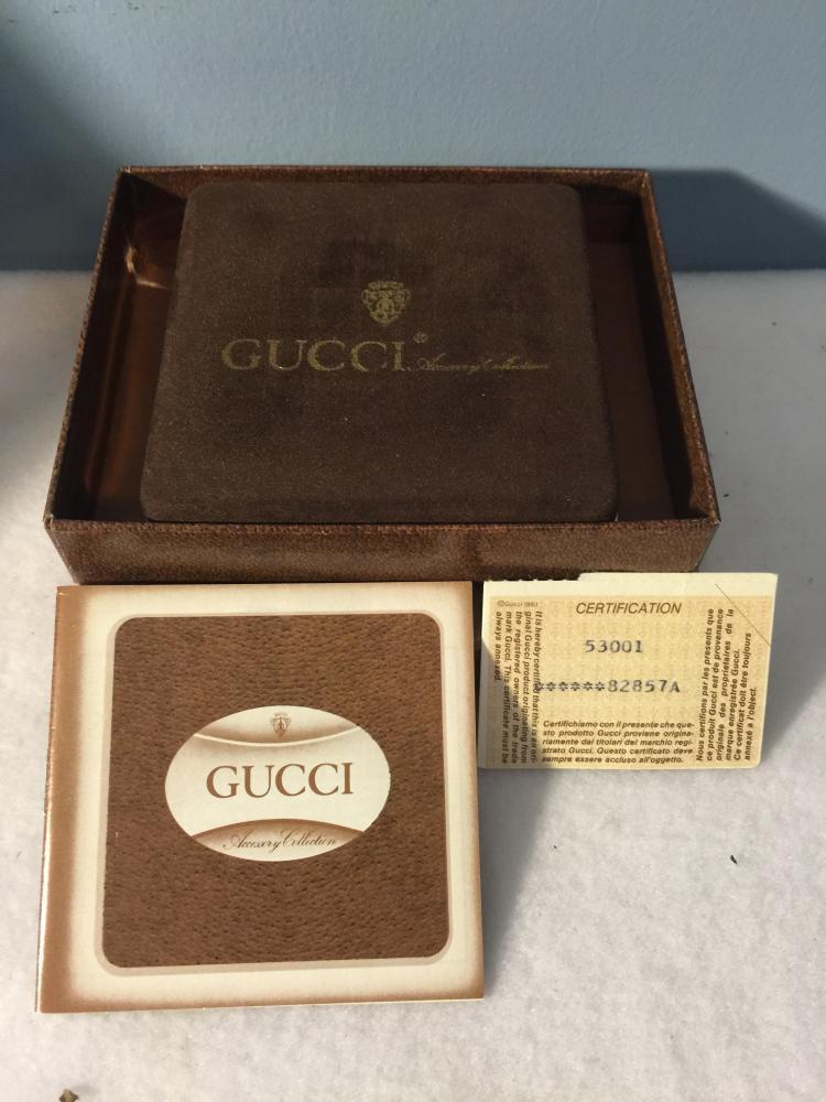 Authentic GUCCI Key Chain Box