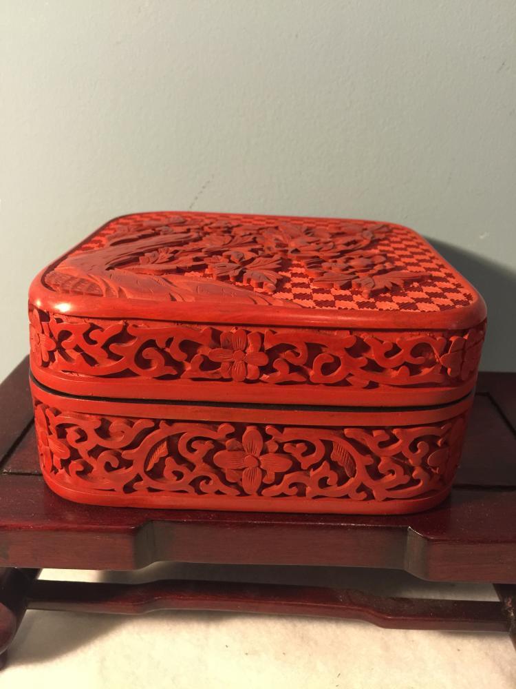 Cinnabar Square Box