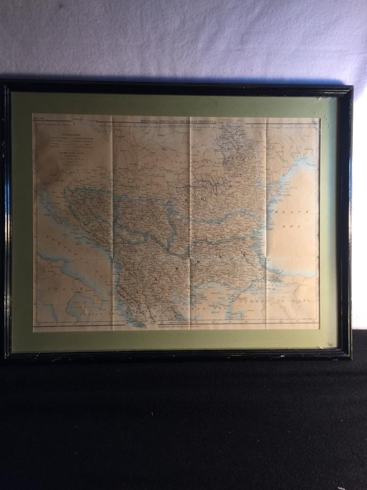 Old Framed Map