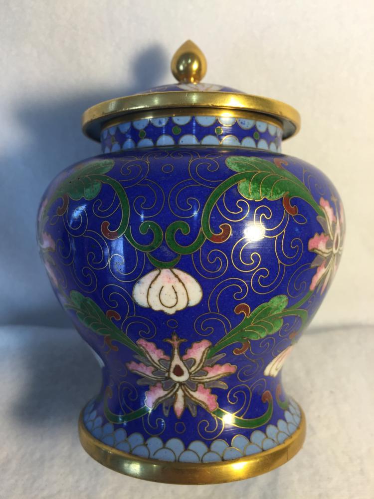 19th chinese cloisonne ginger jar. Black Bedroom Furniture Sets. Home Design Ideas